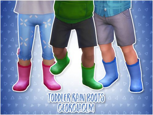 Sims 4 CC's - The Best: Toddlers Boots, Jeans, Hats by GEORGIAGLM