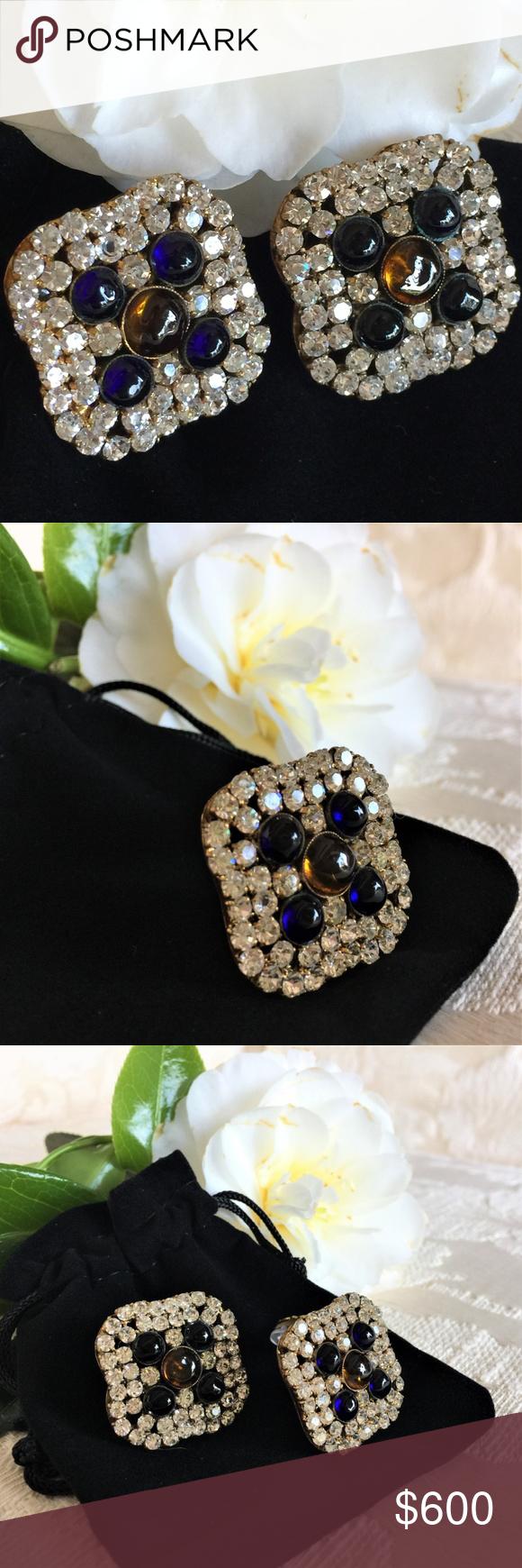 """Chanel """"byzantine clover"""" earrings byzantine Chanel"""