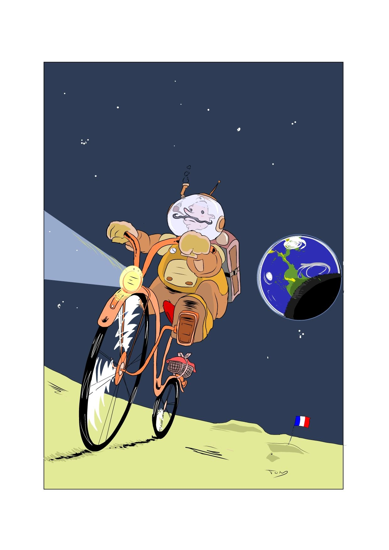 'Cyclonaute' Perfect for any bike and space mad little one. Shows imagination makes anything possible.  All prints start from £14.95, with frame options available.  http://artdoodles.co.uk/cyclonaute-13799-p.asp