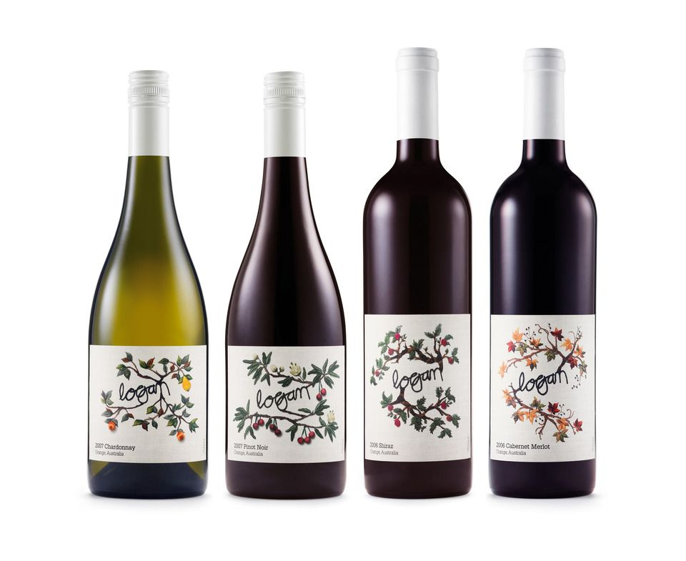 Logan Wine Bottle Labels, unique wine label design ...