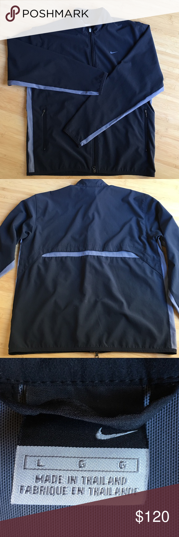 ff4834b9d3 🖤Men s Nike windbreaker - L ⭐️Nike windbreaker Zip up front Vent in back  Black with grey detailing Excellent like-new condition Nike Jackets   Coats  ...