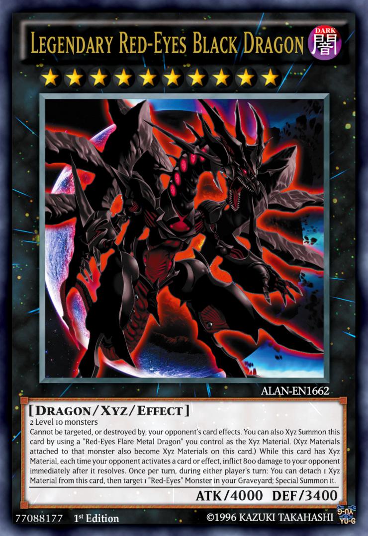 Legendary Red Eyes Black Dragon By Alanmac95 On Deviantart Yugioh Dragon Cards Yugioh Dragons Black Dragon