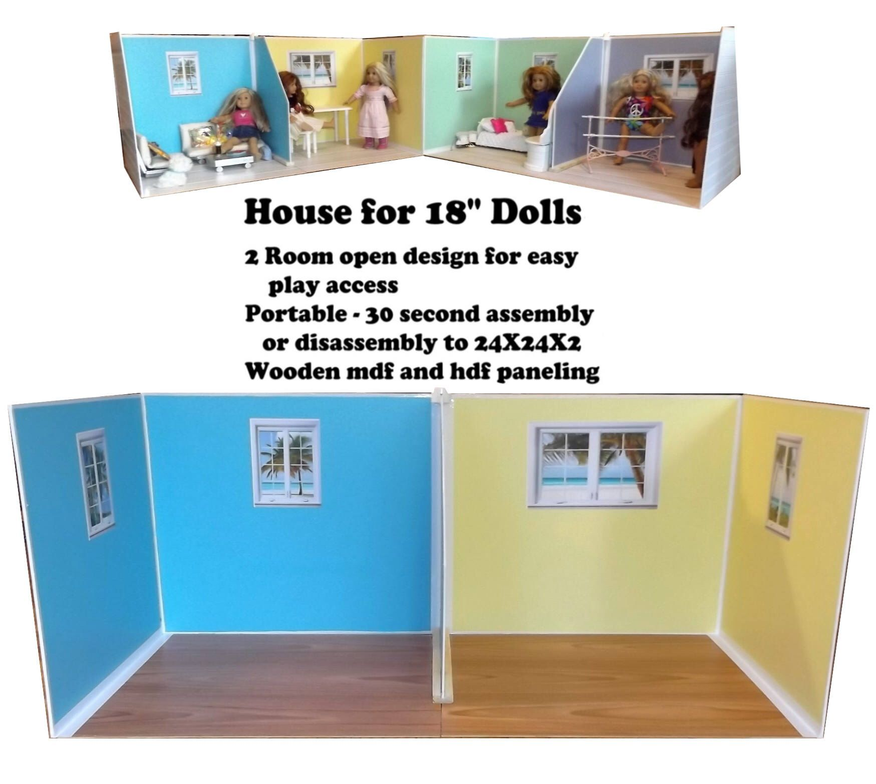 Doll House Beach Cottage Dollhouse For 18 Inch Dolls Similar