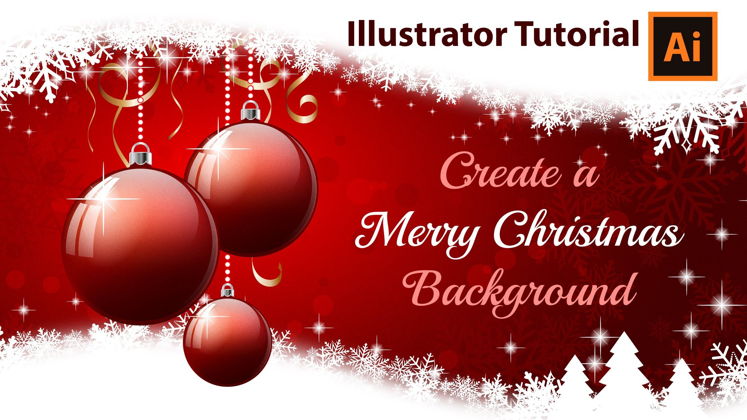 Illustrator Tutorial How To Create A Christmas Card Photoshop Christmas Card Template Create Christmas Cards Illustrator Tutorials