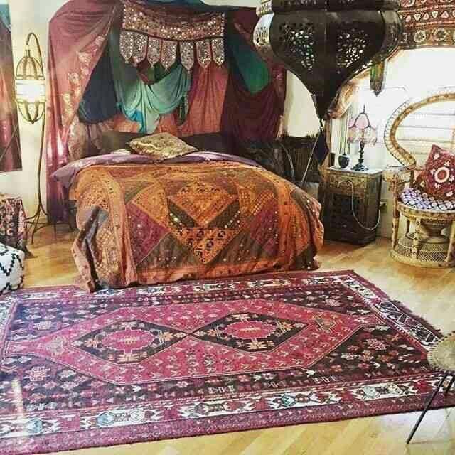 Habitación de ensueño al mas puro estilo Hippie. | Decoración indu ...