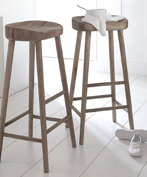 Perch Comfortably On This Stylish Solid Oak Stool They Are Quite High So Do Check Before