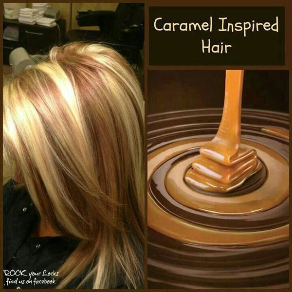 Caramel and blonde highlights hair | Hair | Pinterest ...