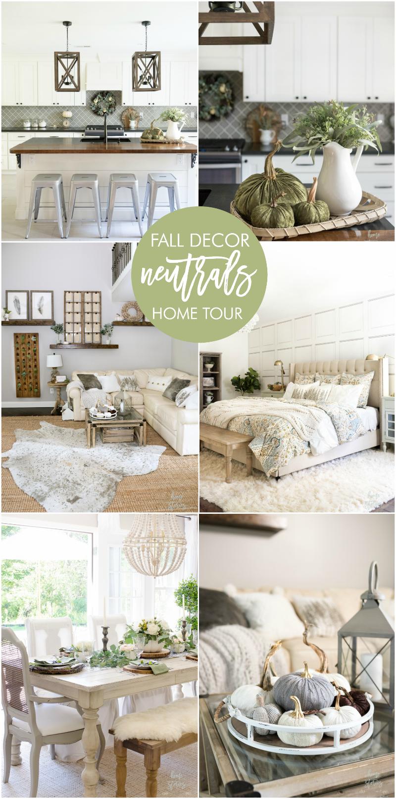 Neutral Fall Decor Home Tour | DIY Home Decor Ideas | Pinterest ...