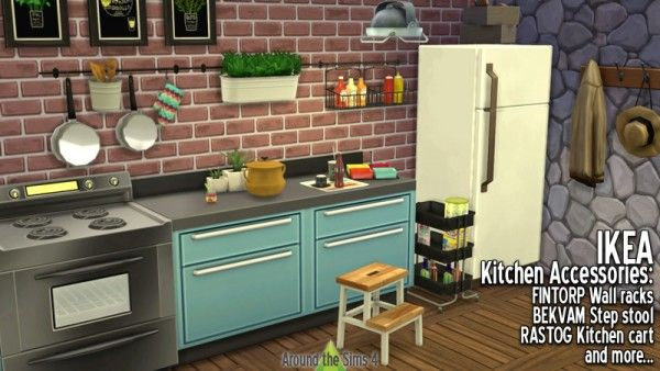 around the sims 4 ikea accessories kitchen sims 4. Black Bedroom Furniture Sets. Home Design Ideas