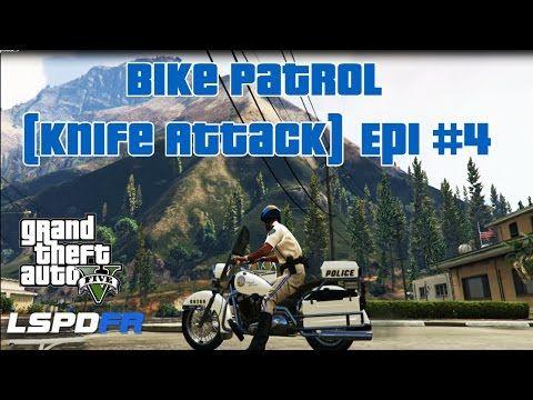 Gta 5 Lspdfr 3 Bike Patrol Knife Attack On A Police Officer