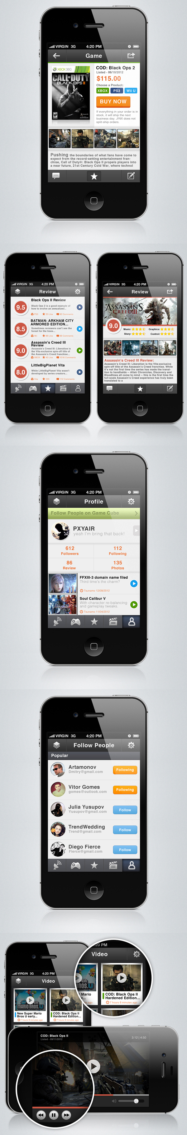 Game Cube - Iphone App By Pxyair , Via Behance-4346