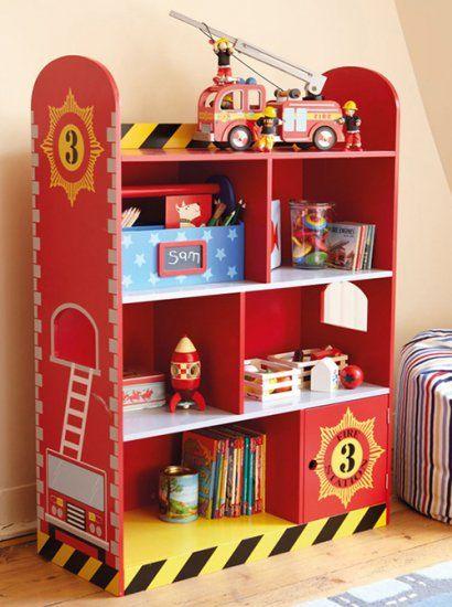 Kids Bookshelf Kidcraft Firehouse Bookcase SHEL FH