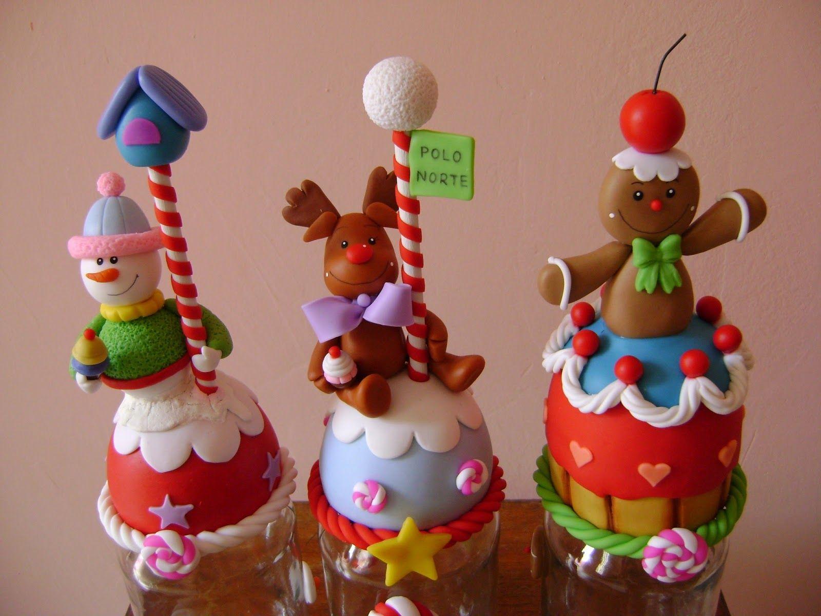Resultado de imagen para dulces kawaii en masa flexible for Adornos navidenos en porcelana fria utilisima