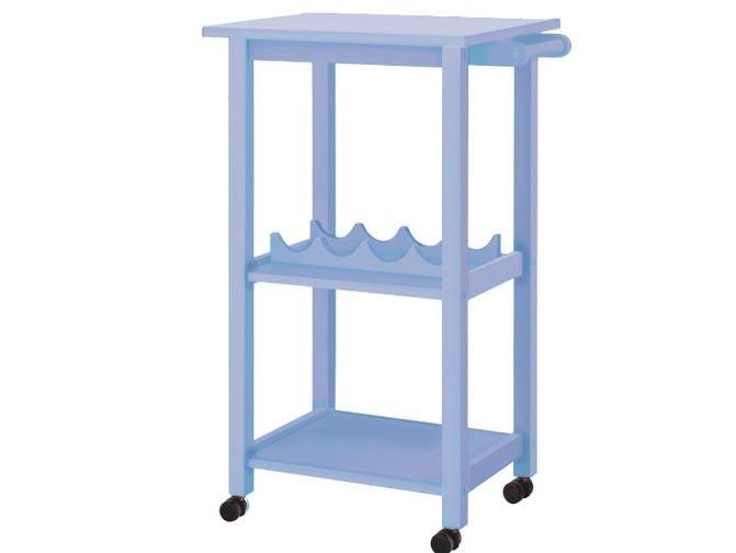 Küchenwagen Landhausstil küchenwagen aldo aus massivholz in hellblau küchenwagen hellblau