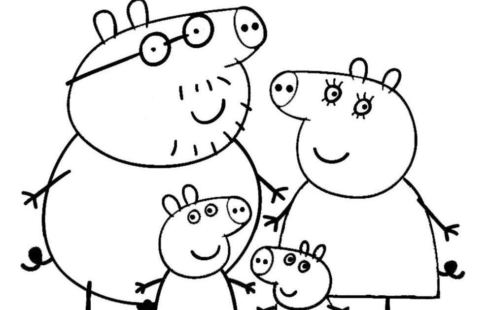 Mewarnai Gambar Peppa Pig Download Kumpulan Gambar