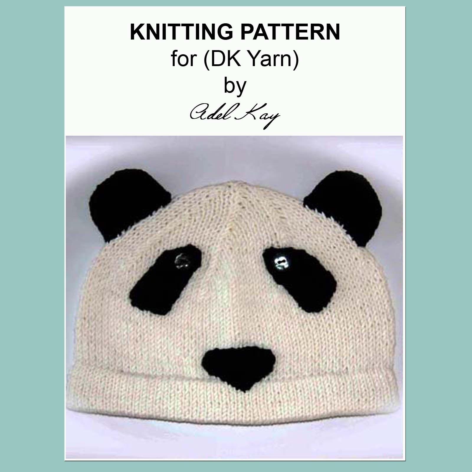 Ke Panda Animal Bear Hat Knitting Pattern   Sewing, Embroidery, Yarn ...