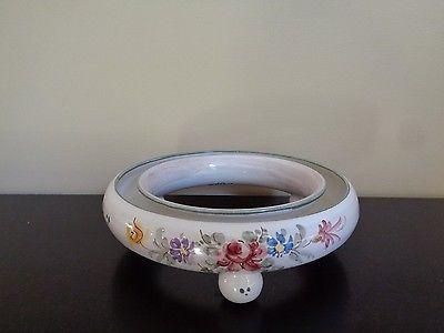 Vintage Ulmer Keramik Porcelain Pansy Round Ring Vase Frog W Germany 402 1 Round Rings Vase Traditional Vases