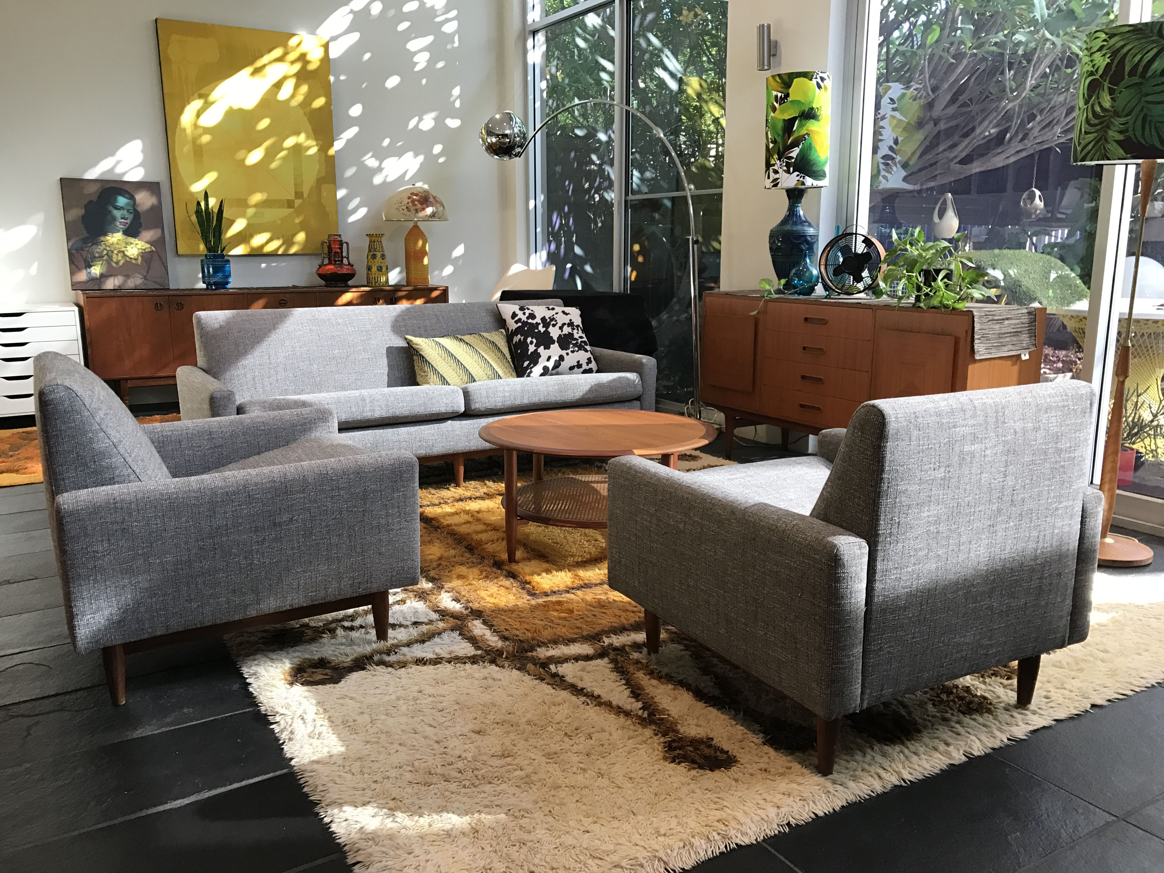 """Fully restored Parker Furniture of Australia """"Model 131"""" armchairs"""