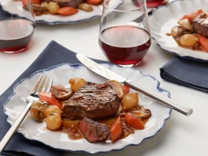 Get filet mignon with mushroom red wine sauce recipe from food get filet mignon with mushroom red wine sauce recipe from food network forumfinder Images
