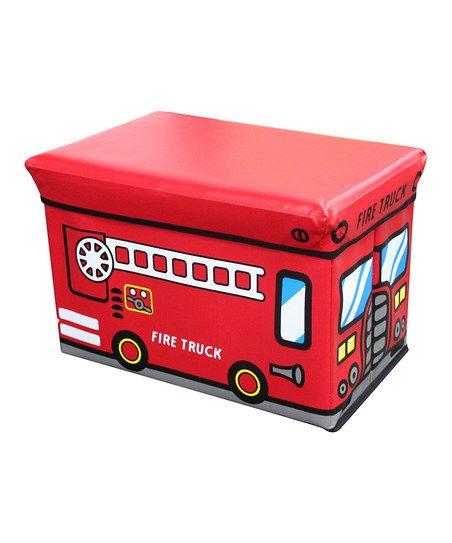 Wondrous Red Fire Truck Folding Storage Ottoman Fun For Grandkids Forskolin Free Trial Chair Design Images Forskolin Free Trialorg
