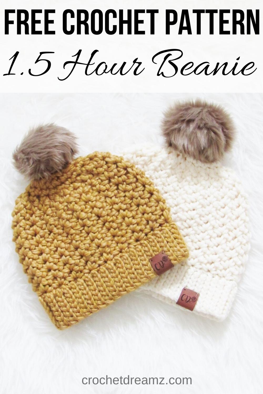 1.5 Hour Chunky Crochet Beanie
