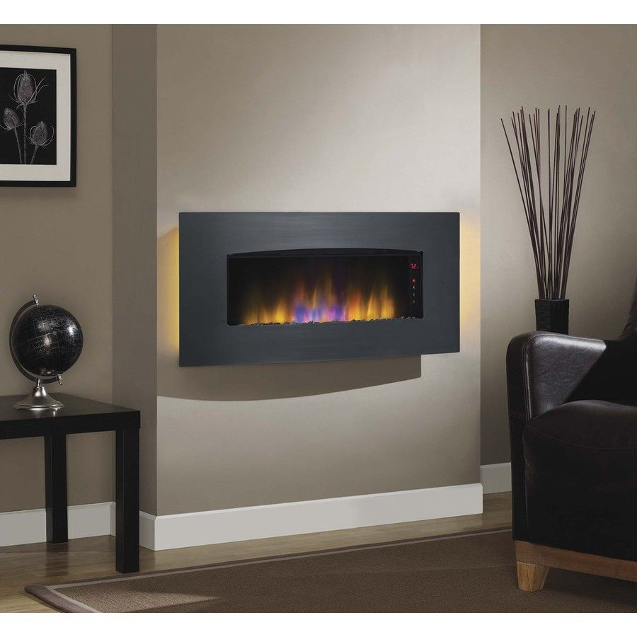 40 39 In Black Electric Fireplace Insert Lowes Com Wall Mount Electric Fireplace Hanging Fireplace Wall Mounted Tv
