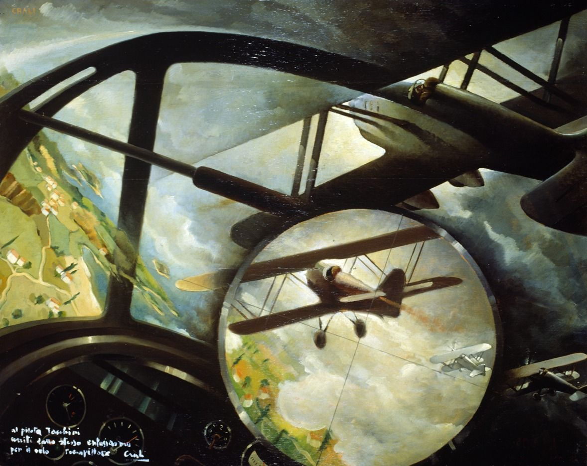 """Aerocaccia II"", 1936 by Tullio Crali (Italian 1910-2000)"