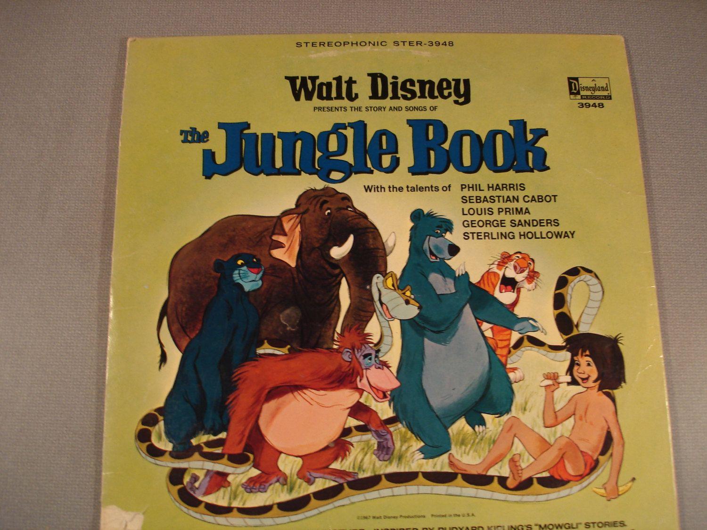 Vintage Walt Disney L P Record Jungle Book Nice Condition 1967