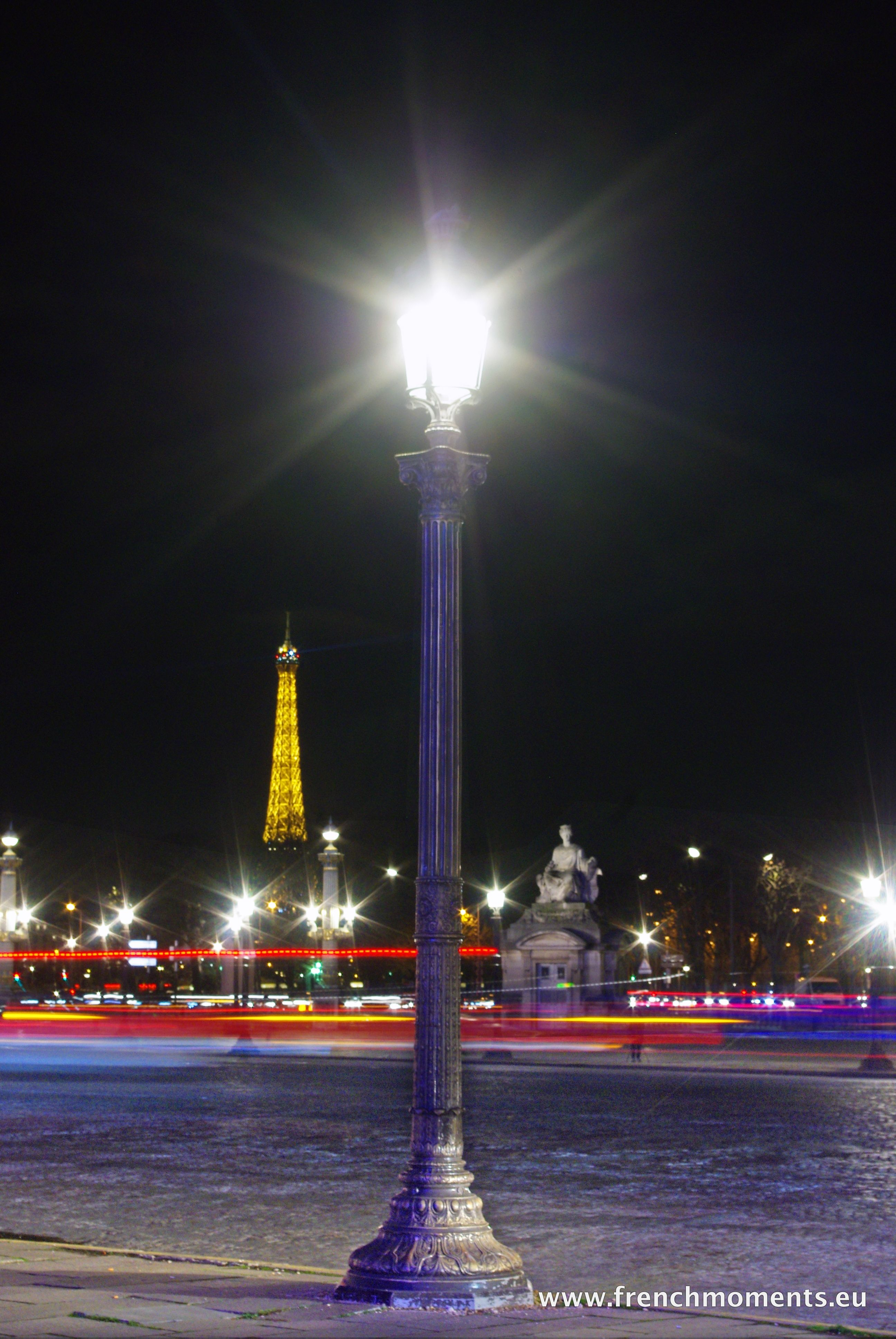 This Is Place De La Concorde With The Eiffel Tower In Distance A Photo We Took Few Nights Ago Bonne Nuit