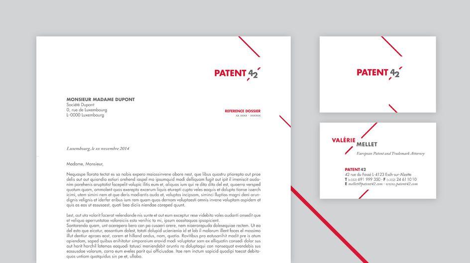 Corporate Patent 42 Entete De Lettres Et Cartes Visite