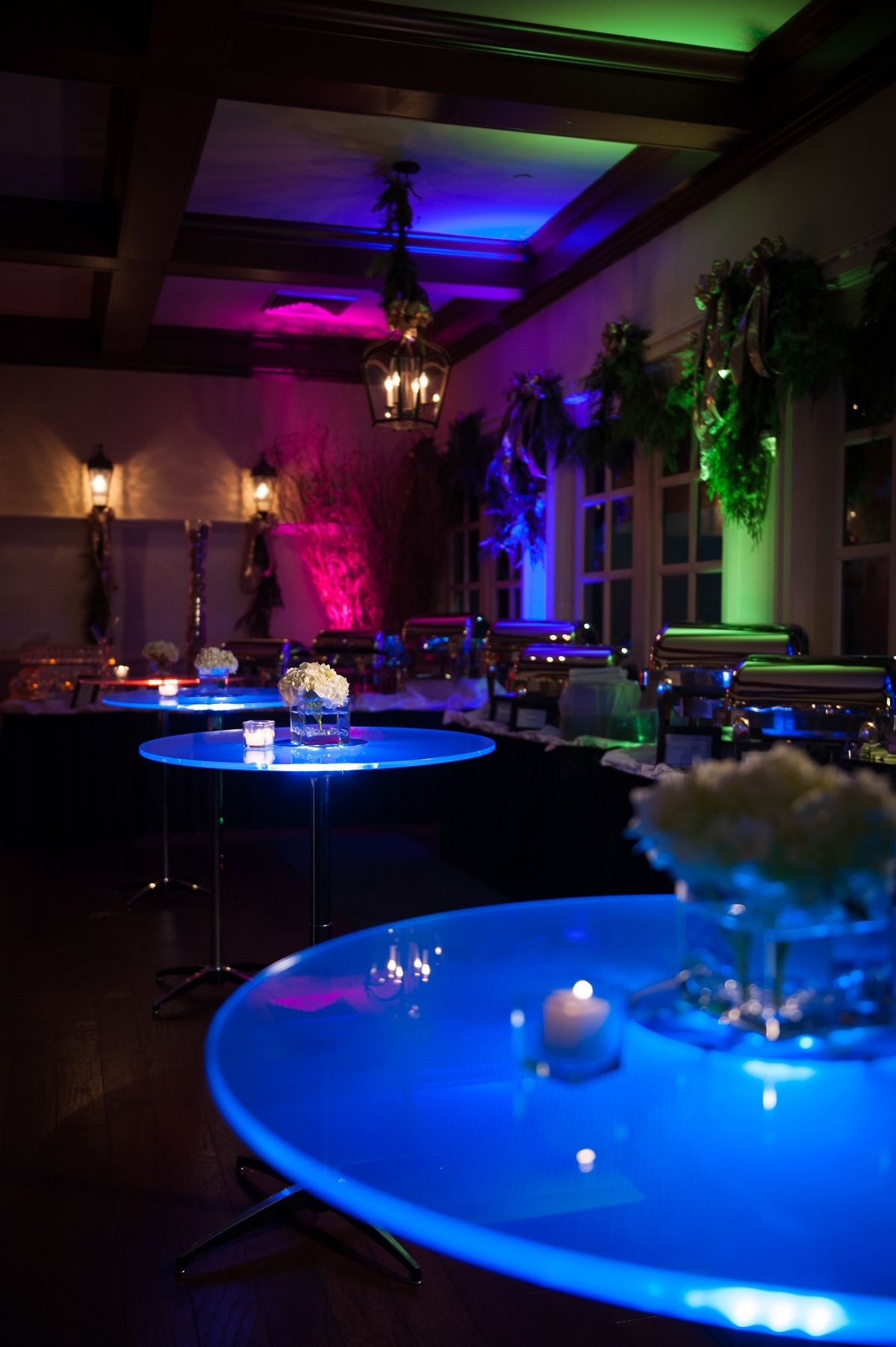 Led tables in cocktail hour cocktail hour decor