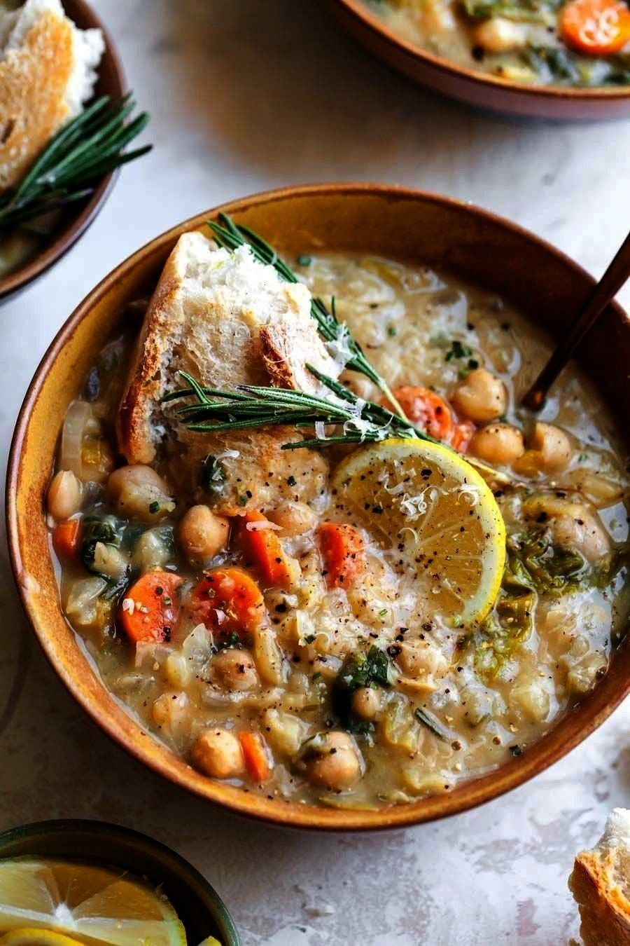 and Lemon Soup is a vegetarian, fiber-filled meal ready in just 40 minutes. A one-pot meal perfect