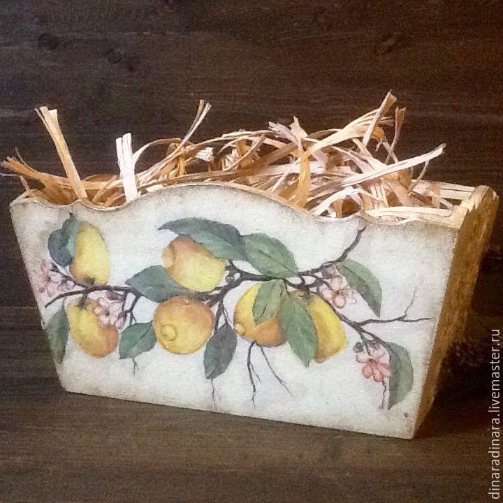 Купить Короб для хранения Лимон и мандарин - волшебство - короб для хранения, короб, короб для кухни, подарок