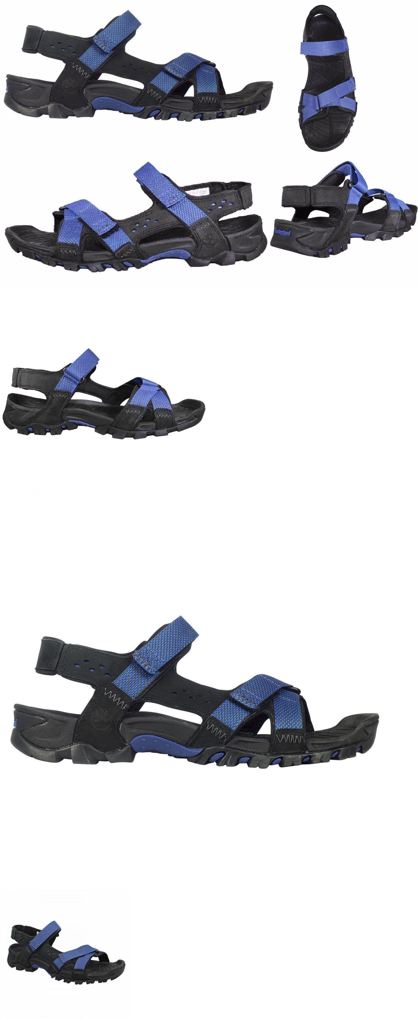 964f822732c3 Sandals and Flip Flops 11504  Timberland Men S Eldridge Leather Blue Sport  Sandals Flip Flop 5825A -  BUY IT NOW ONLY   40.19 on eBay!