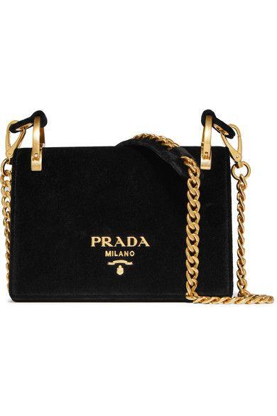 fa6f7a562758 PRADA Pionnière Velvet Shoulder Bag. #prada #bags #shoulder bags #velvet #