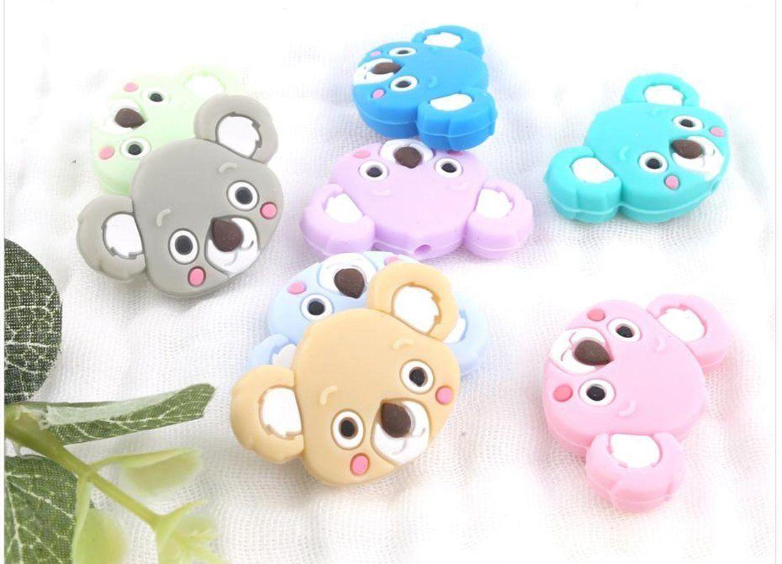 Babys silicone beads 100pcslot mini koala shape diy