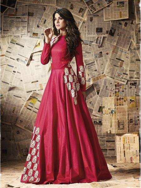 Silk Floor Length Dresses