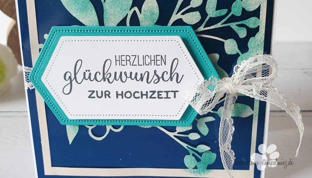 Florale Glückwunschkarte zur Hochzeit   Kleine Stempelmiez