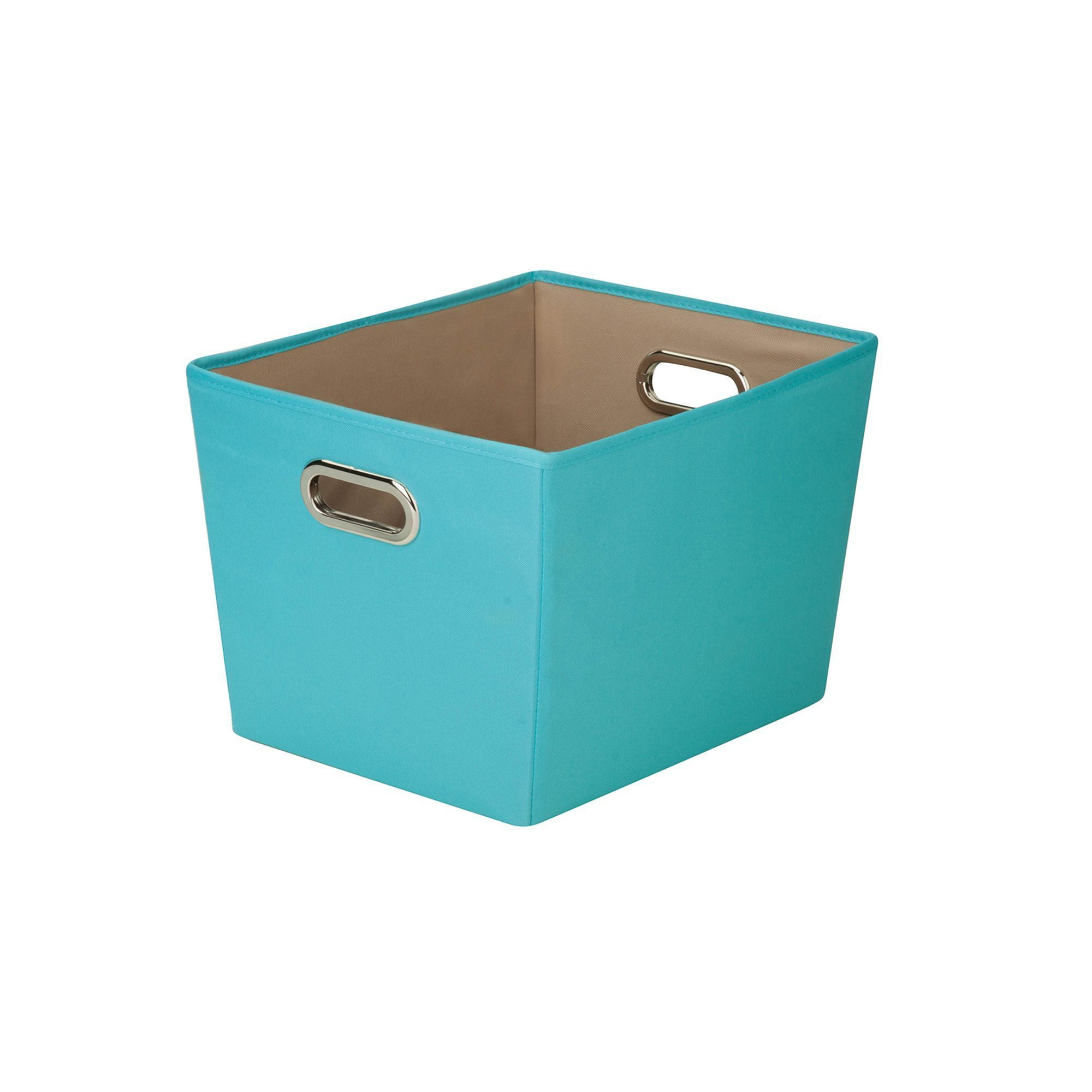 Honey Can Do Decorative Storage Bin With Handles, Blue