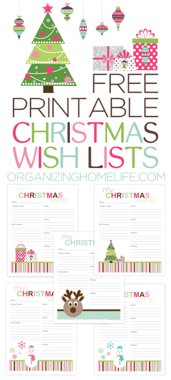 Printable Santa Wish List Cool Free Printable Christmas Wish Lists  Pinterest  Free Printable .