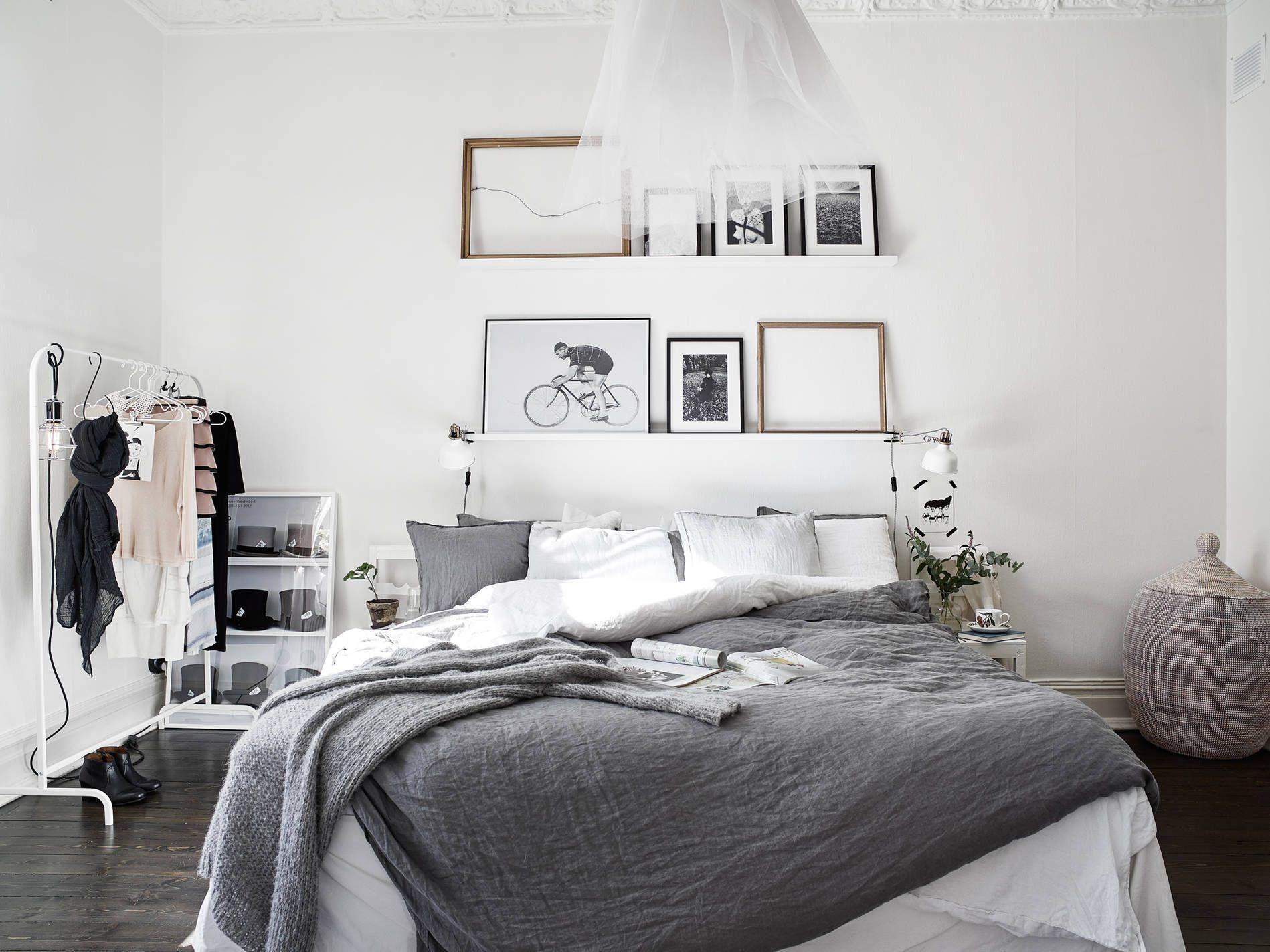 Durchblick ins Schlafzimmer in schöner Altbauwohnung in Leipzig Schlafzimmer Altbau Leipzig Gemütliche Schlafzimmer Pinterest