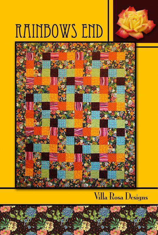 Rainbows End quilt pattern by Pat Fryer, Villa Rosa Designs