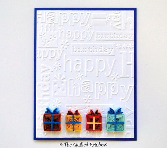 Quilled birthday card colorful quilled gift boxes birthday gifts quilled birthday card colorful quilled gift by thequilledrainbow 725 m4hsunfo