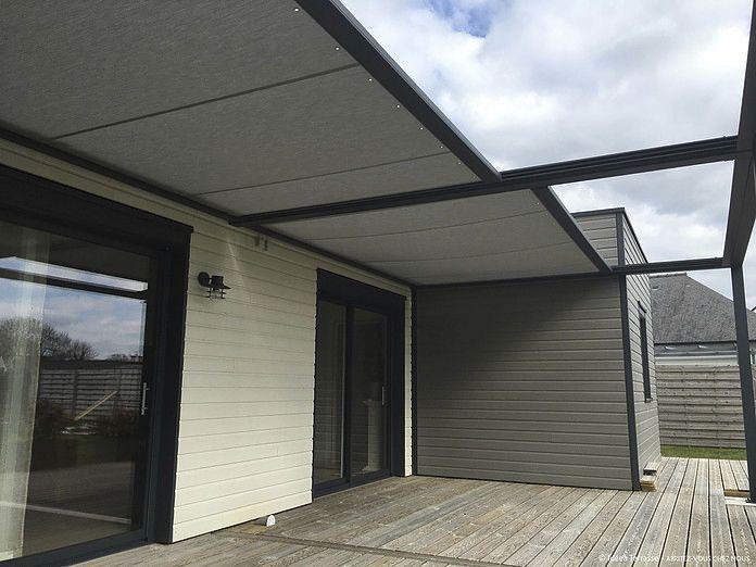 pergola autoportante en aluminium couverture coulissante en toile sur mesure id e. Black Bedroom Furniture Sets. Home Design Ideas