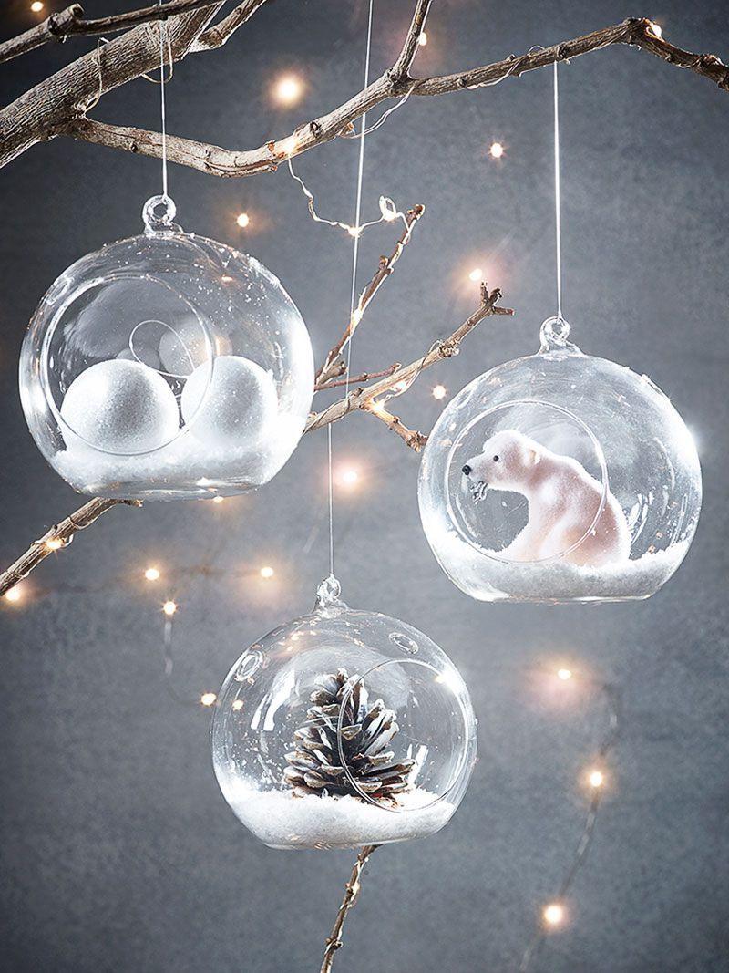 Addobbi Natalizi Vetro.Bianco Natale Palle Vetro Palline Di Natale Ghirlande Di Natale Corona Di Feltro Vacanze Di Natale Christmas Ornaments Christmas Diy Christmas Decorations