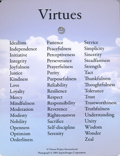 Virtues Reflection Cards Unique Words Definitions Virtue Quotes Words To Use