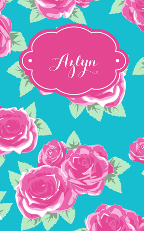 Gorgeous stitched notebook by May Designs with my custom monogram! Choose your favorite pattern, monogram, and inside page style. #maydesigns #custom #monogram