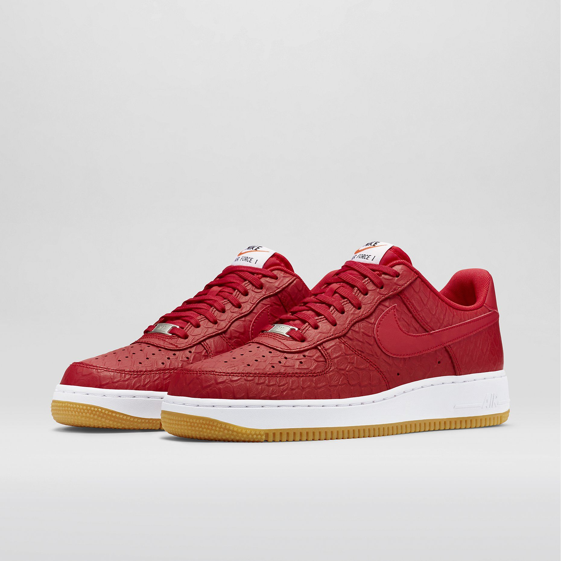 watch f1372 e4667 Nike Air Force 1 07 LV8 - University Red White Gum Light Brown University  Red