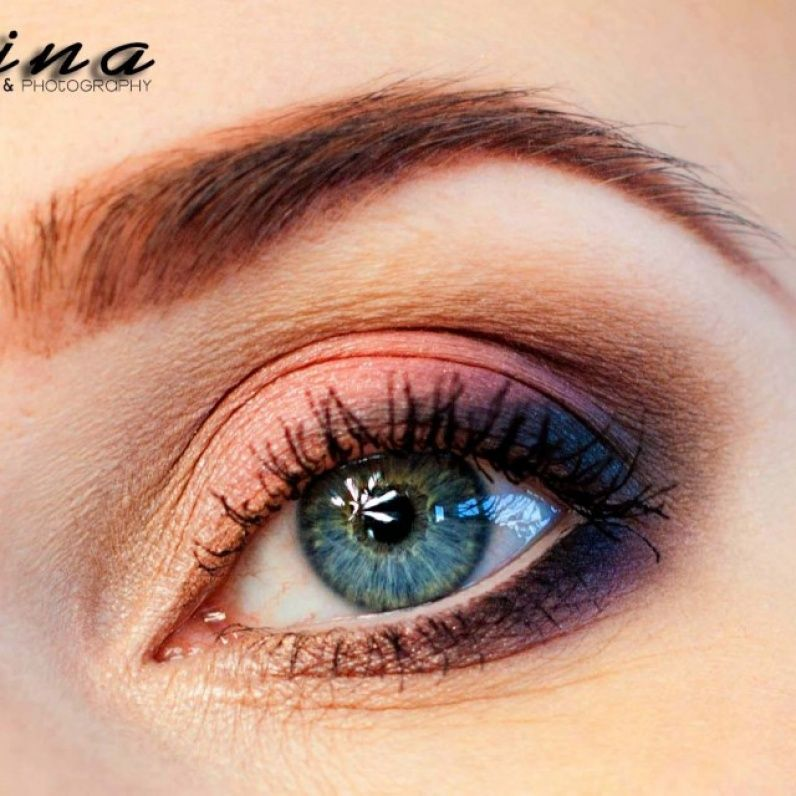 Peach makeup - Makeup