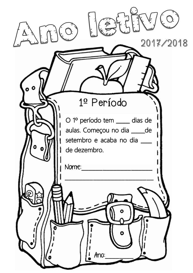 Capas Separadoras Do 1º Periodo Para Escrever E Pintar Capa De
